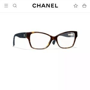 $500.+ 2019 Sty. Chanel Eyeglasses Tort/ Denim NEW